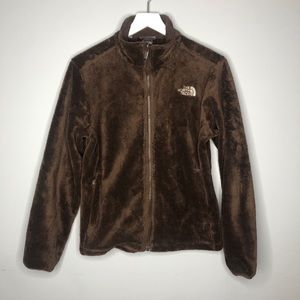 The North Face brown zip up jacket size small
